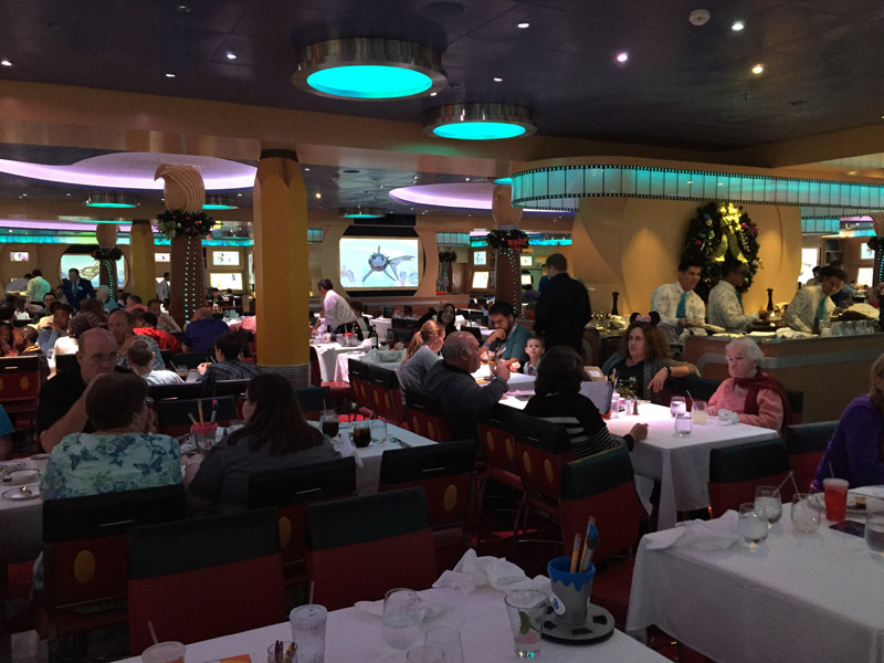 Restaurante Animator's Palate no Disney Dream