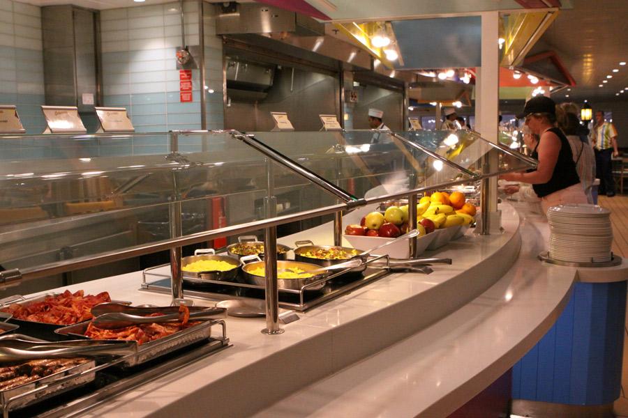 Cabanas buffet no Disney Magic
