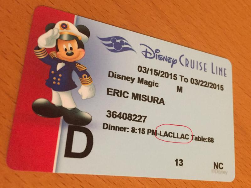 A ordem dos restaurantes no cartão-chave