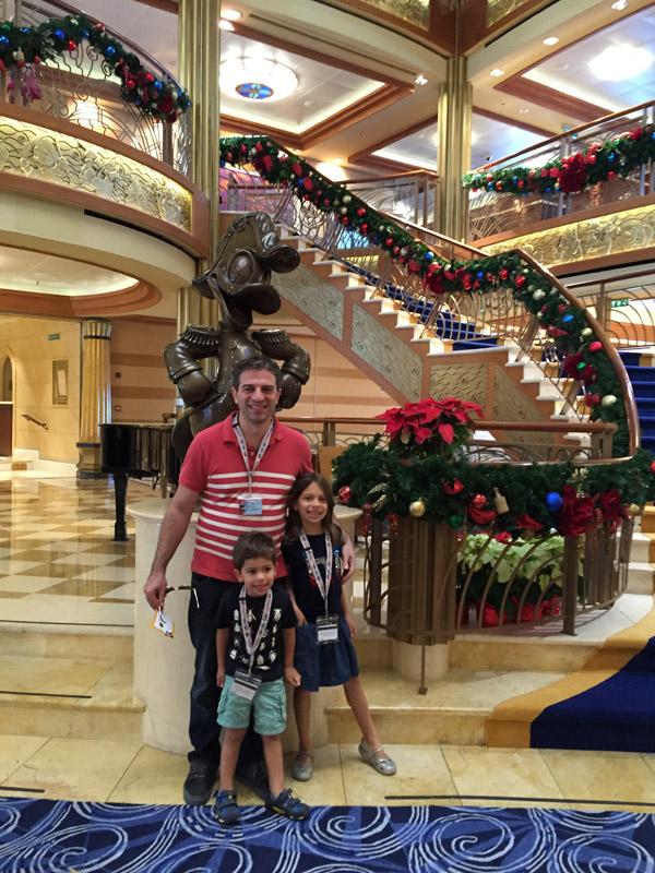 Embarcando no Disney Dream em novembro de 2015