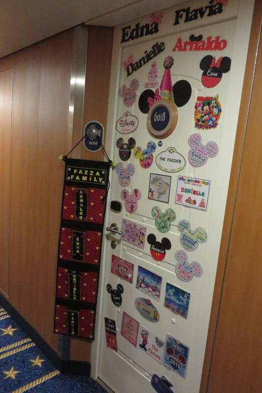 Nossa porta no Disney Fantasy