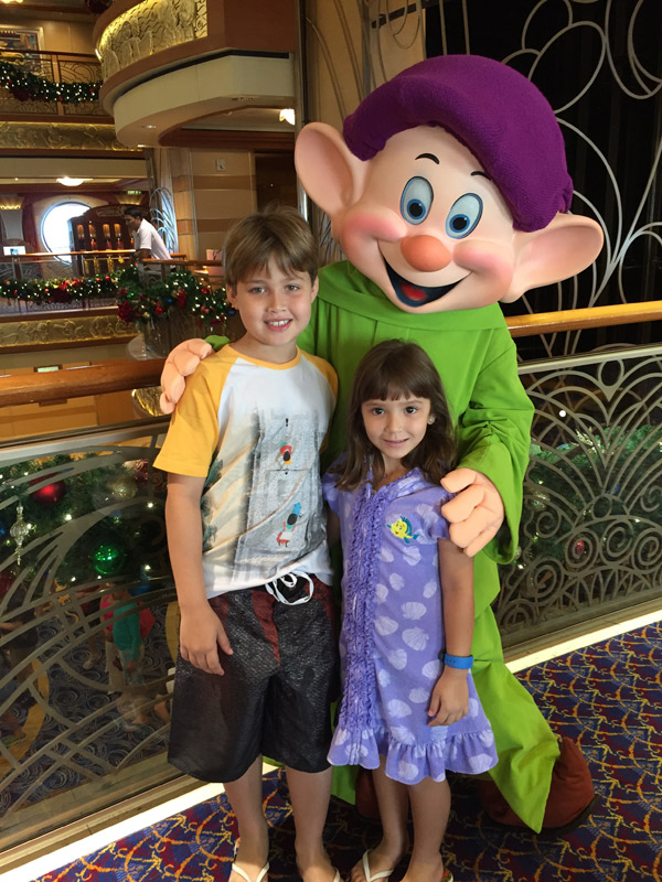 Com o Dunga no Disney Dream