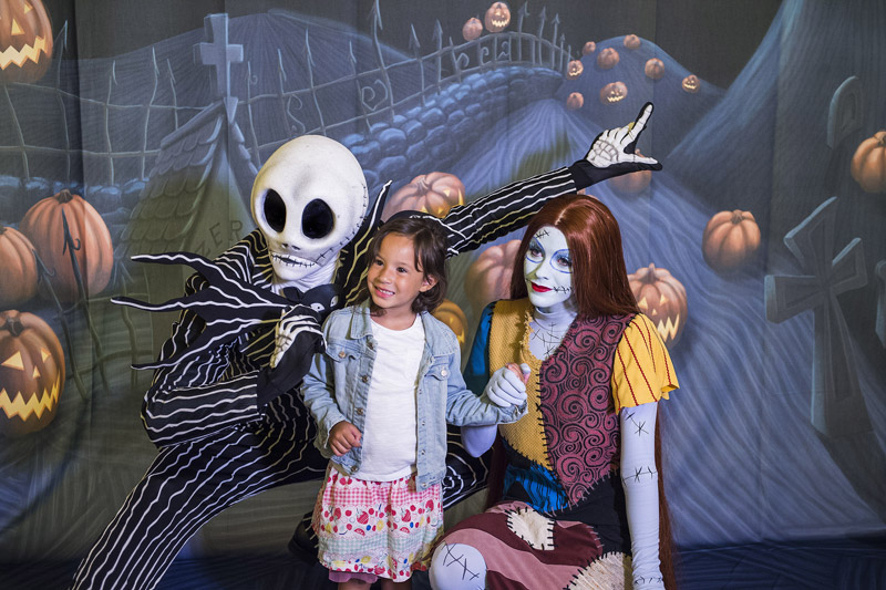 Jack e Sally no Disney Dream. Foto: Matt Stroshane, DCL News