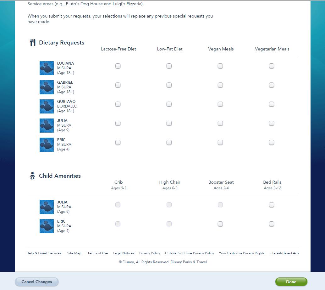 Special Requests, escolha o que precisar