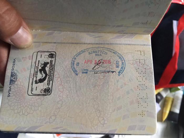 Carimbo no passaporte
