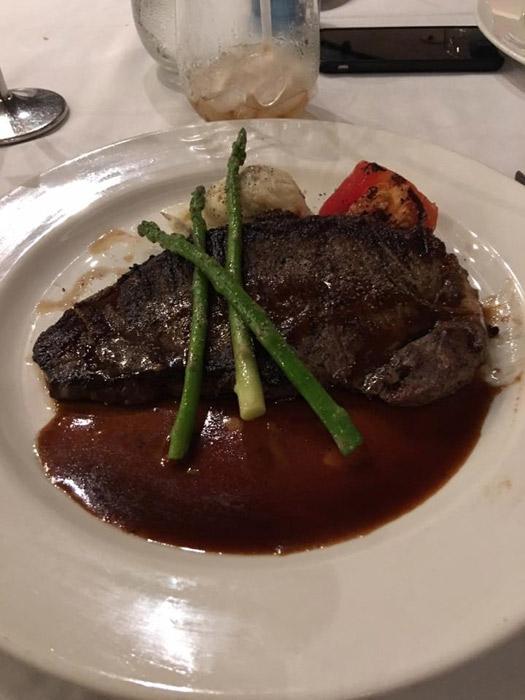 Carne em um dos jantares