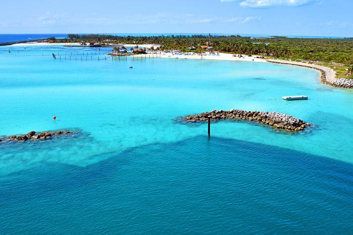 Chegando em Castaway Cay em um dia perfeito
