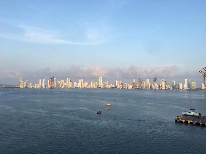 Chegando a Cartagena