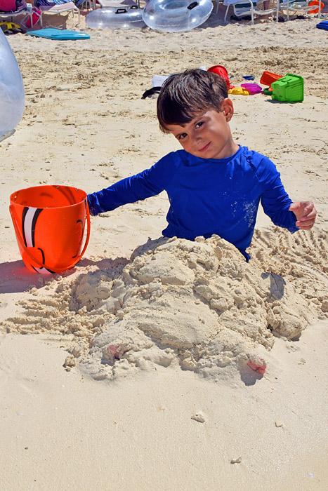 Eduardo curtindo a praia