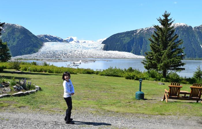 Vista da geleira Taky em Juneau, Alasca