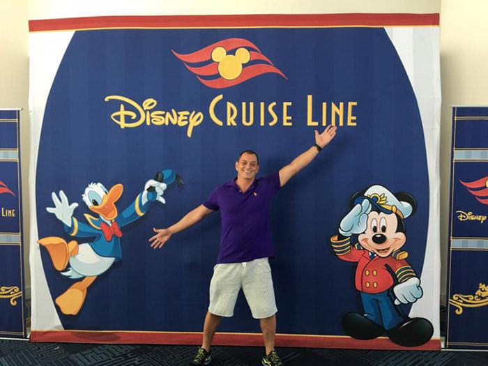 Hernani embarcando no Porto de Miami para o cruzeiro Disney pelo Canal do Panamá, maio de 2016