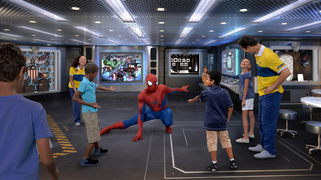 Novidades no Disney Wonder Coming to the Disney Wonder this fall is Marvel Super Hero Academy. Marvel's greatest Super Heroes mentor young guests to develop the brave and adventurous heroes inside them. (Photo illustration, Disney)