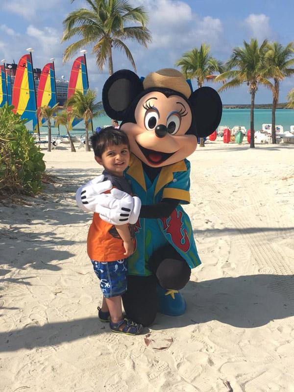 Com a Minnie em Castaway Cay