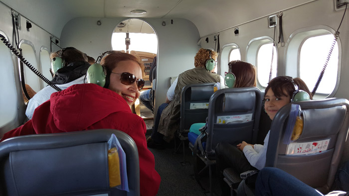 No avião para o passeio em Juneau, Alasca