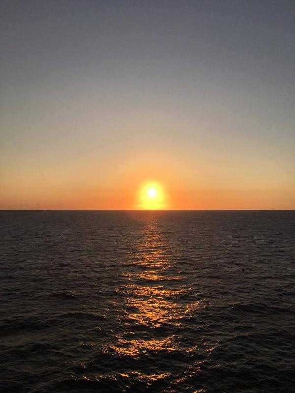 Pôr-do-sol perfeito