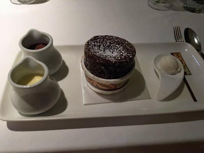 Suflê de chocolate do Palo, famoso