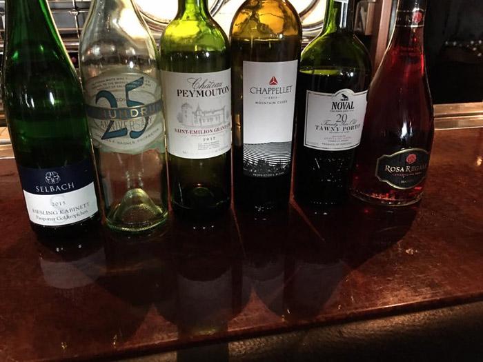 Bebidas no cruzeiro Disney: vinhos