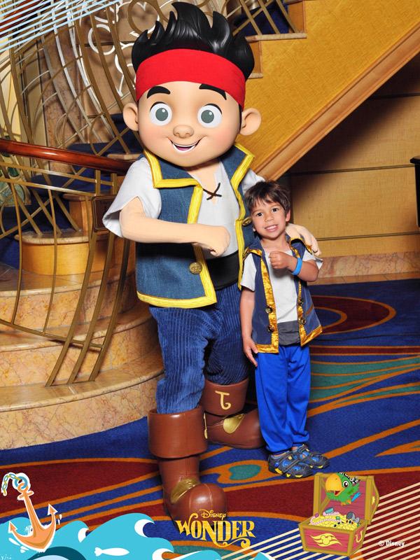 Eric e o Pirata Jake no Disney Wonder