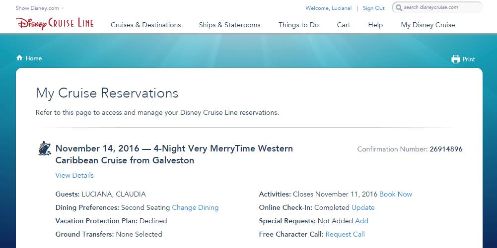 Como reservar atividades pro seu cruzeiro Disney