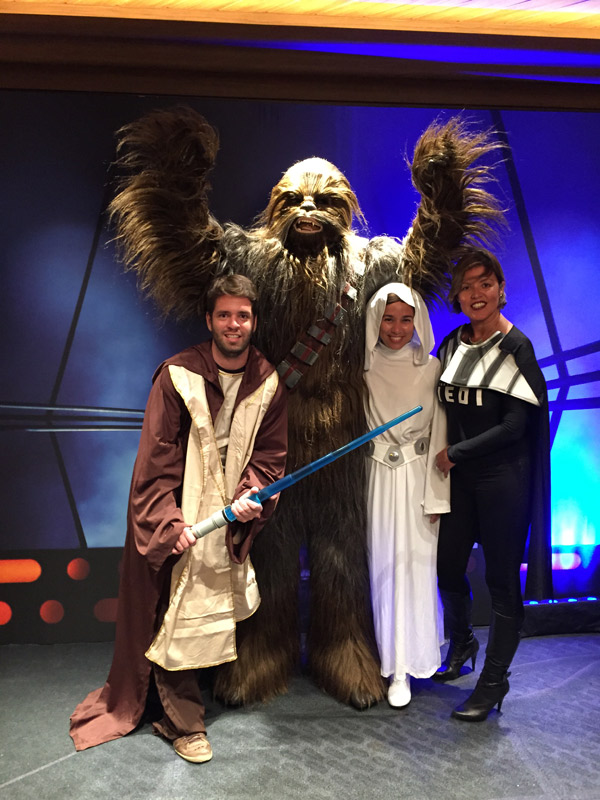 O Chewbacca aparece nos cruzeiros Star Wars