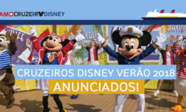 Cruzeiros Disney para o verão de 2018 anunciados