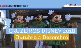 Cruzeiros Disney de outono 2018 anunciados!