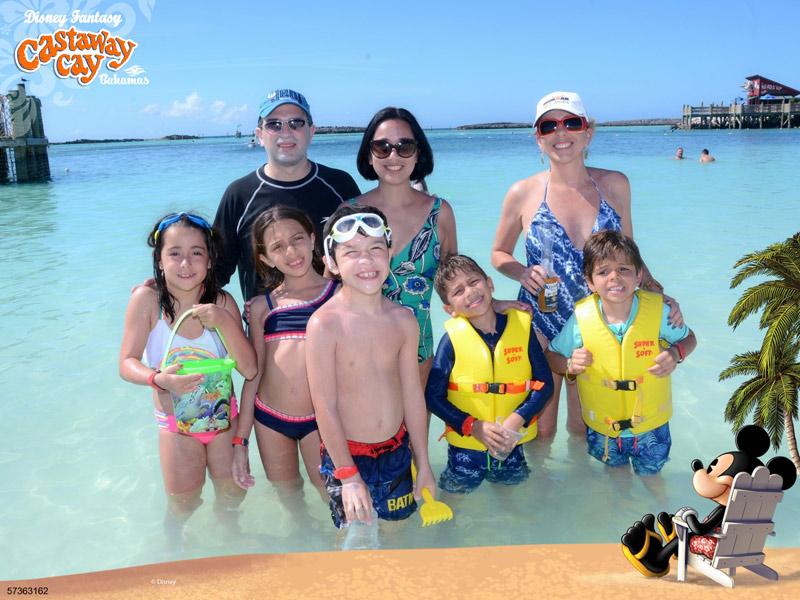 Curtindo a praia de Castaway Cay em fevereiro