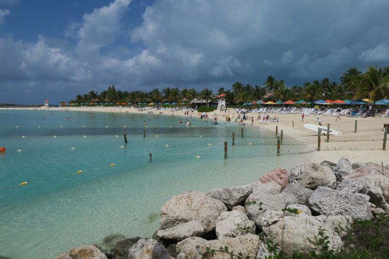 Castaway Cay novamente em fevereiro, não dei sorte