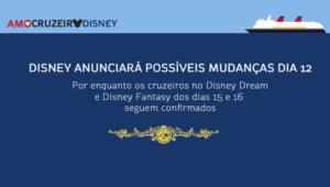Disney anunciará possíveis mudanças no dia 12
