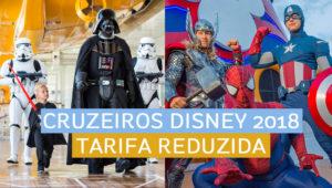 Tarifa reduzida em cruzeiros Disney em janeiro, fevereiro e março de 2018