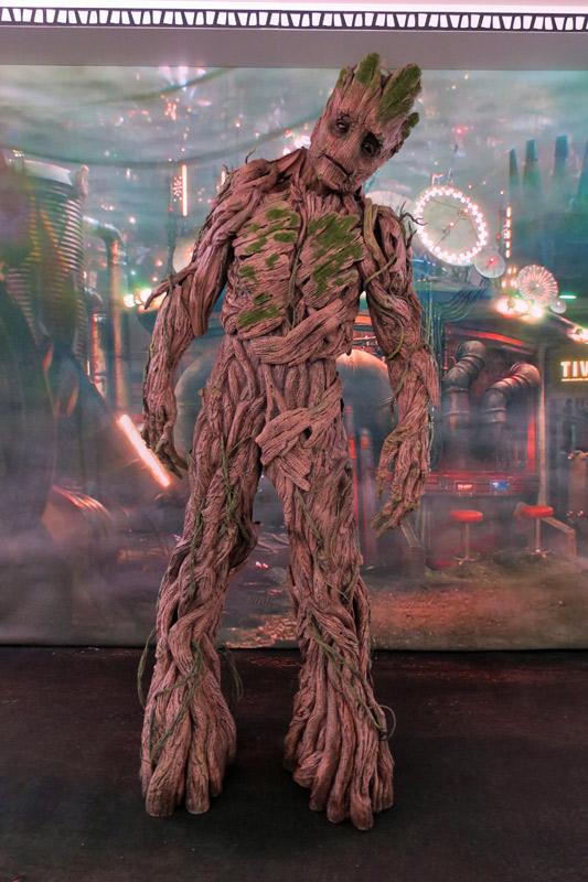 Groot no dia Marvel no cruzeiro Disney