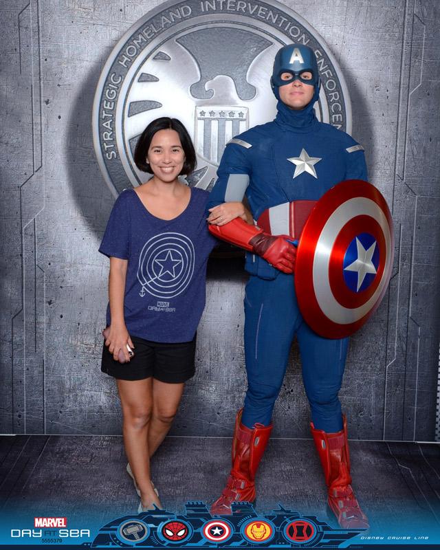 Dia Marvel no cruzeiro Disney: encontro com o Capitão América