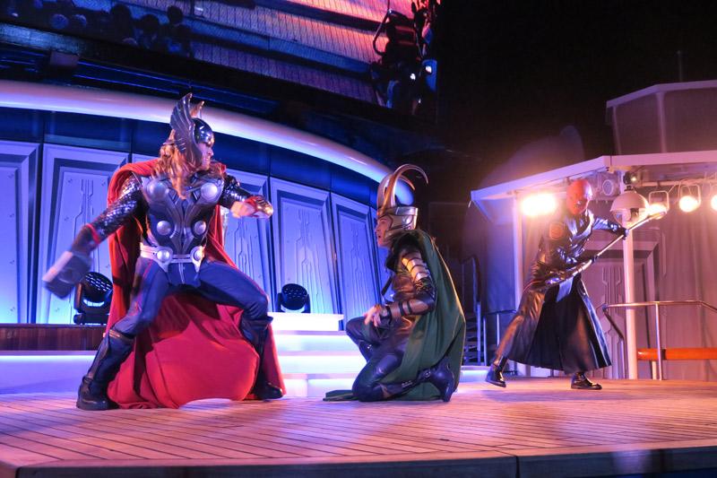 Show do dia Marvel no cruzeiro Disney