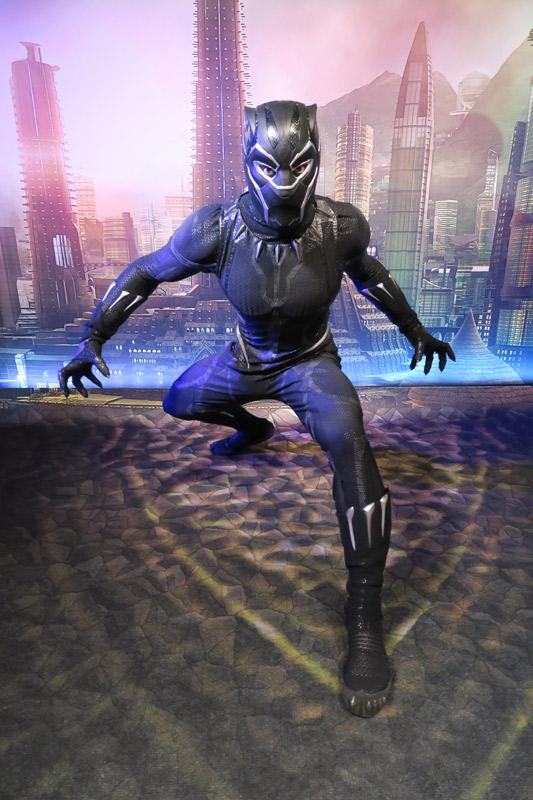 Pantera Negra no dia Marvel no cruzeiro Disney