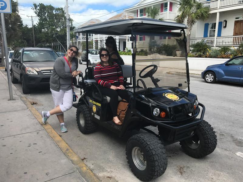 O que fazer em Key West alugar carrinho de golfe