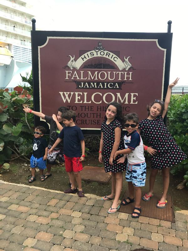 passeio na Jamaica: chegando no porto