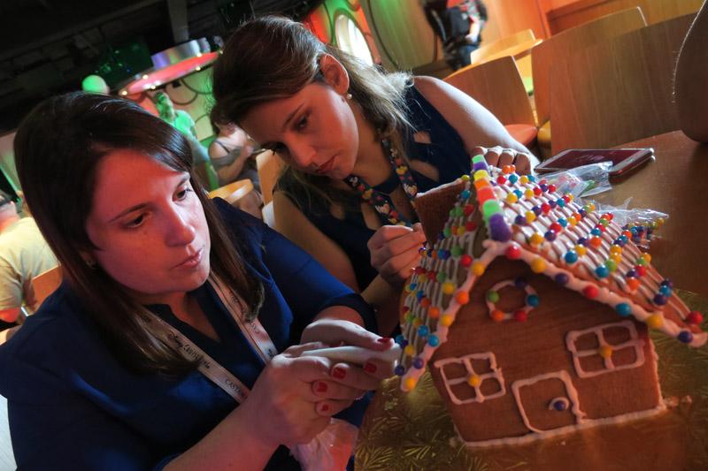 Cruzeiro Disney de Natal: casinha de gingerbread