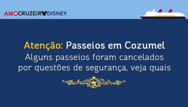Disney cancela algumas excursões em Playa del Carmen por questões de segurança