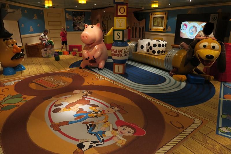 Disney Fantasy depois da reforma: área de Toy Story renovada