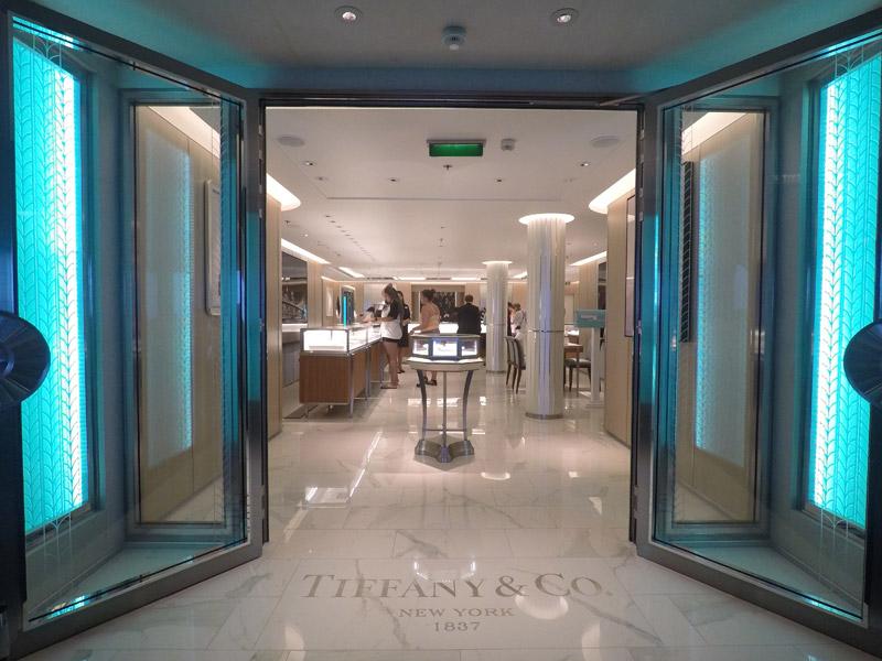 Disney Fantasy depois da reforma: nova loja Tiffany & Co