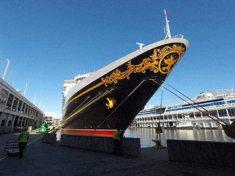 O Disney Magic no Porto em Nova York, no dia do desembarque