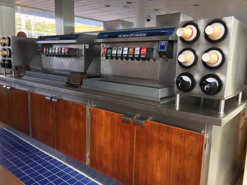 Bebidas no cruzeiro Disney: refrigerantes liberados