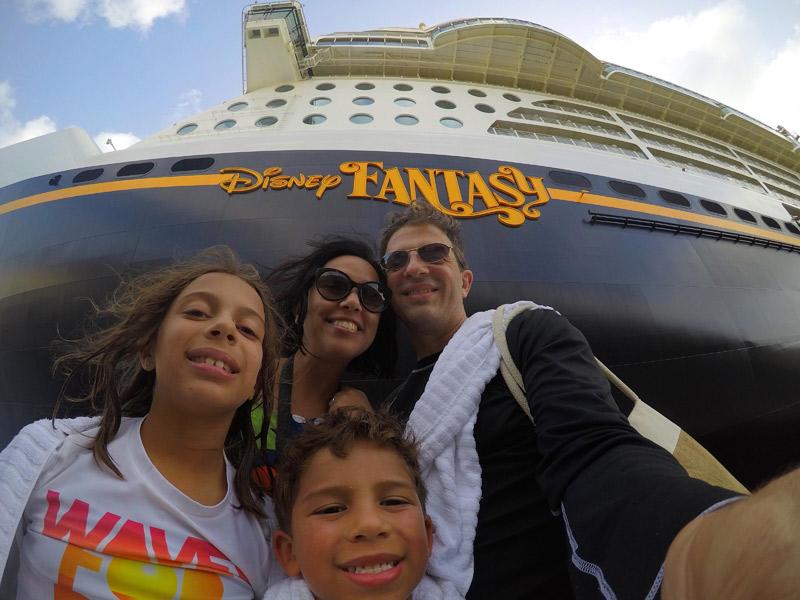 Selfie durante o Cruzeiro de 11 noites no Disney Fantasy