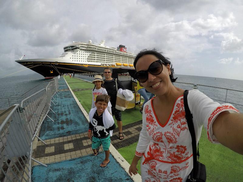 Voltando pro navio Disney Fantasy em Martinica