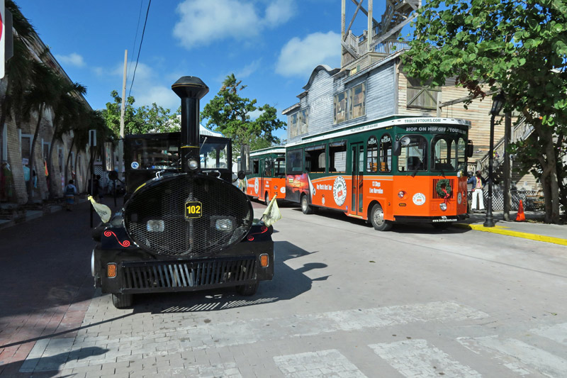 Old Town Trolley e Conch Train em Key West