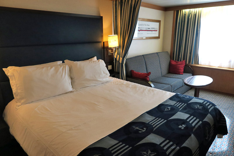 Nossa Cabine Deluxe Oceanview no Disney Magic