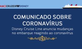 Disney Cruise Line faz comunicado sobre coronavírus