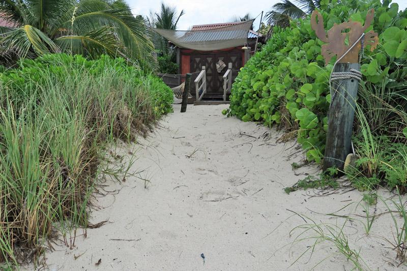 Cabana número 7 na praia de família