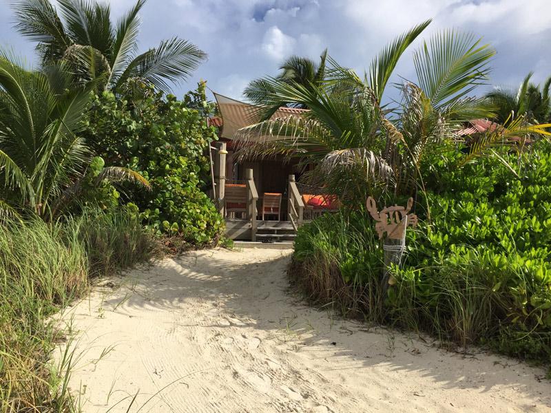 Vista da nossa Cabana da areia