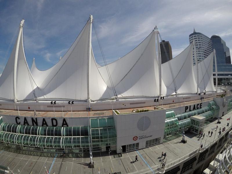 Canada Place, o Porto de Vancouver. Foto: Luciana Misura